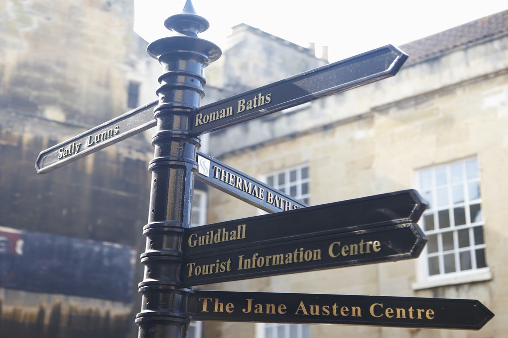 Signpost to Sally Lunn's