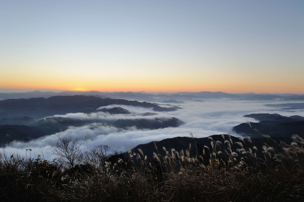 Mt Kuruhi, Kinosaki Onsen, Visit Kinosaki, Japan, Spa town, view, sea of cloud,