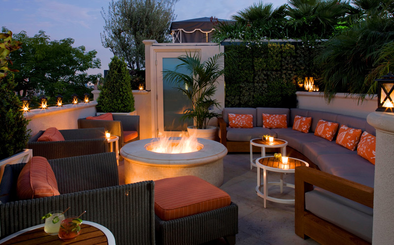 Rooftop, Peninsula Beverly Hills, California, luxury hotels in LA