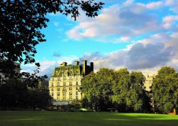 The Ritz London, view of Green Park, luxury hotel, London luxury